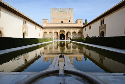 Court Of The Myrtles In Alhambra