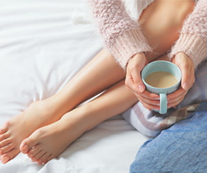 Feet and tea