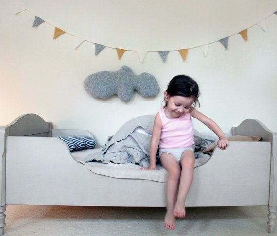 Grey and pastel kids room