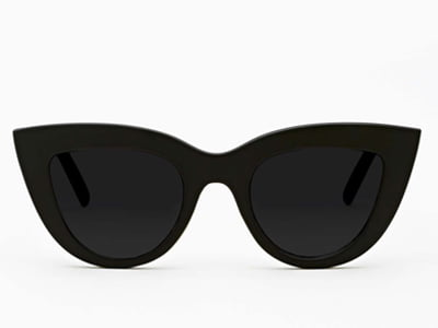 d285082eb88d These cat-eye shades featuring a matte black frame are the perfect  accessory to jazz up a summer s day in style. The cat-eye shape is perfect  for those with ...