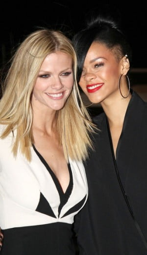 Brooklyn Decker and Rihanna pose together at the Battleship Premiere in Sydney