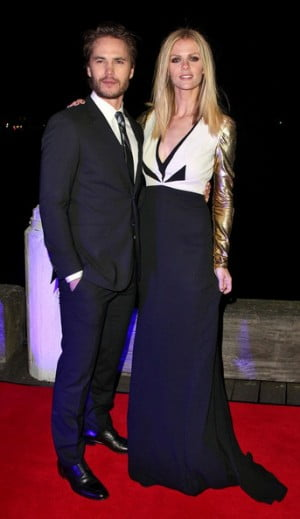 Taylor Kitsch and Brooklyn Decker arrive at Luna Park in Sydney for the Battleship Premiere