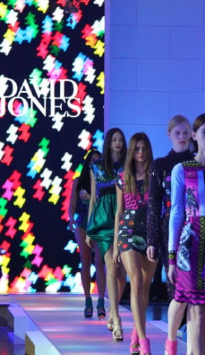 Models showcase the David Jones Spring Summer 2012-13 Collection
