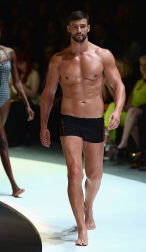 Kris Smith models in the Myer Spring Summer Collection Launch