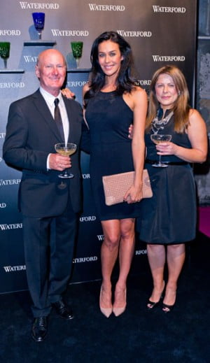 Jim O Leary, Megan Gale and Lia Calusso