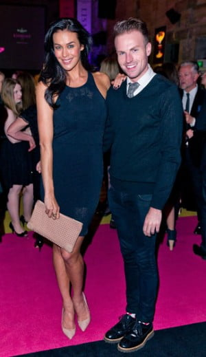 Megan Gale and Joel Christie attends the Waterford Chrystal Celebration