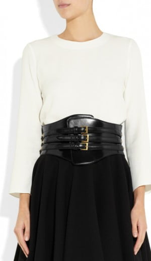 Alexander McQueen Wide Waist Leather Belt