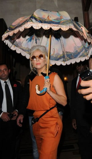 Lady Gaga is out in London