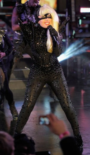 Lady Gaga performs on NYE in Times Square