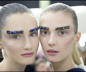 Models Pose Backstage at Chanel Show