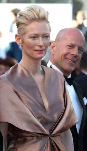 Tilda Swinton and Bruce Willis