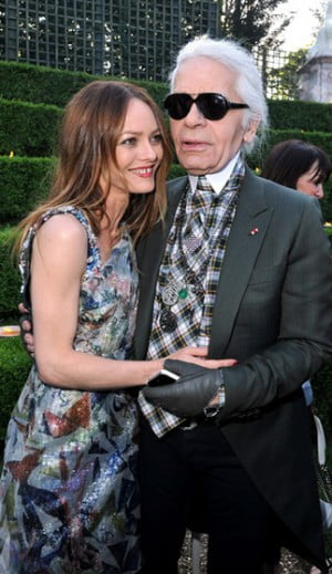 Vanessa Paradis and Karl Lagerfeld